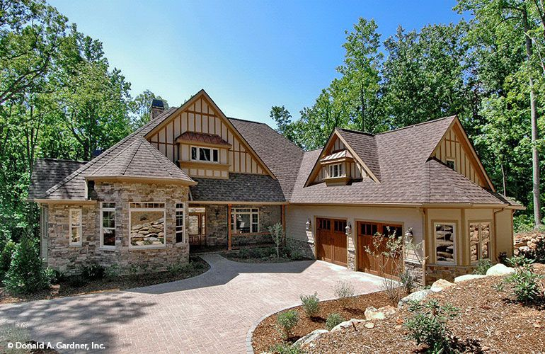 Courtyard Entry Garage Home Plans | House plans | Pinterest | Luxury ...