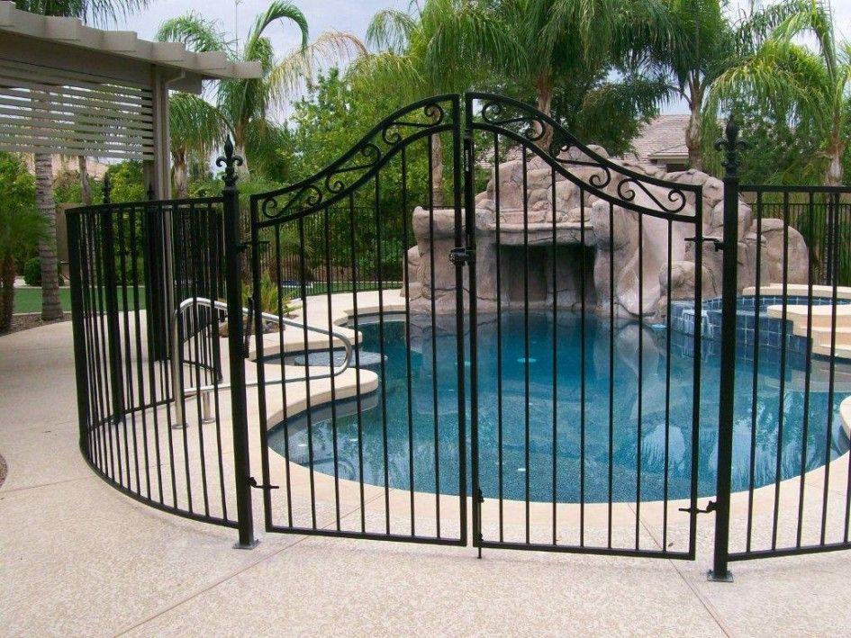 Swimming Pool Design, Mesmerizing Wrought Iron Pool Fence Also ...