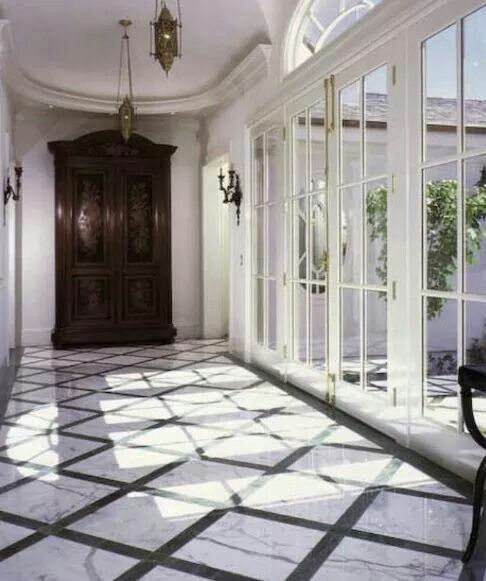 This Stunning Foyer Was Completed By Universal Tile Marble
