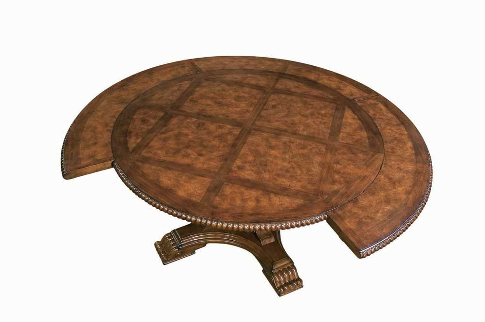 Villa Cortina Round 58 Dining Table With Four Outside Leaves By