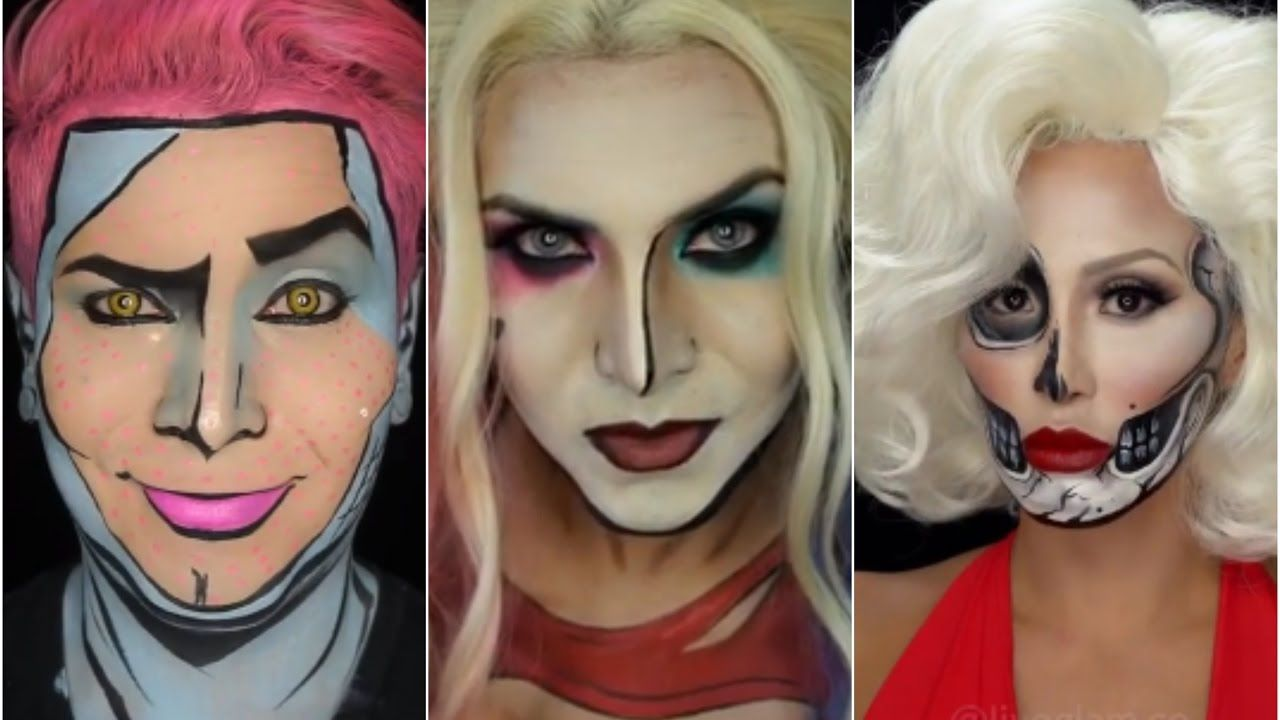 رجل يفاجيء العالم بموهبة استخدام المكياج لتحويل وجهه الى أشكال كرتونية Halloween Face Makeup Face Face Art