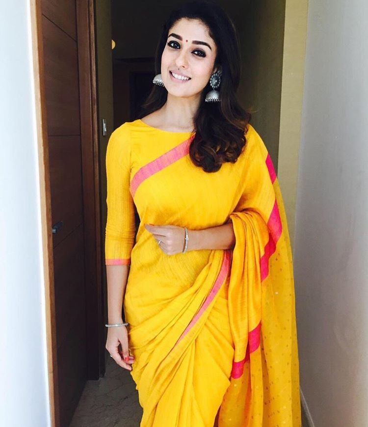 c230a6558156c Nayanthara looking simple and elegant in a cotton saree