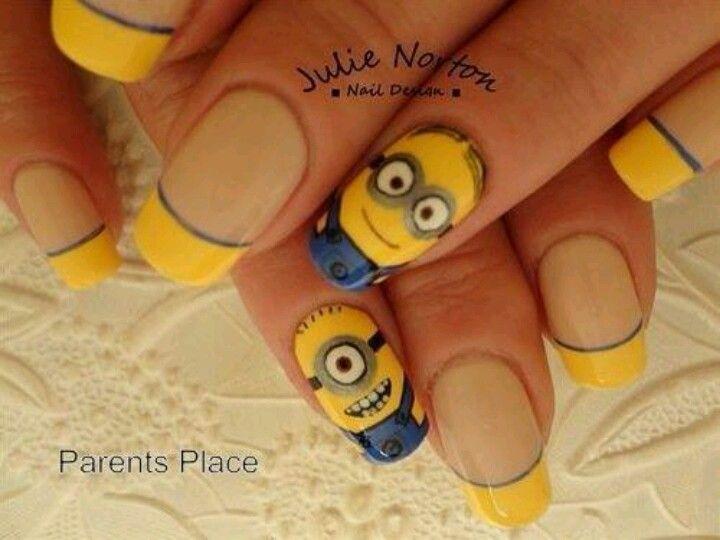 Atractivas uñas decoradas con personajes minions | Diseños de uñas ...