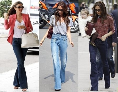 How to Wear Flare Jeans in Spring | Celebrity Fashion | Pinterest ...