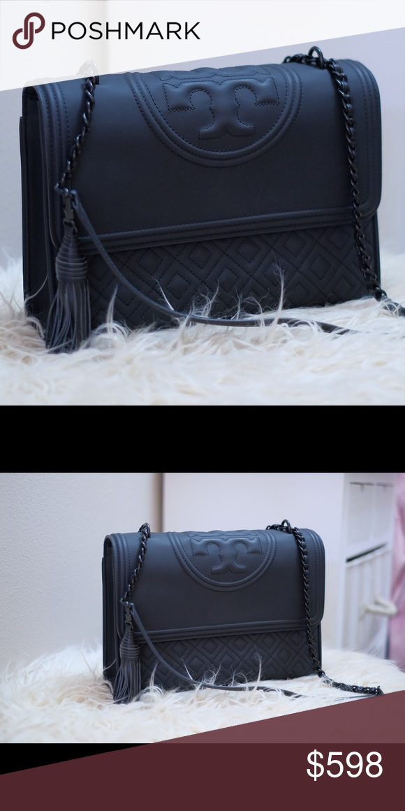 71595c1b12b02 Tory Burch Fleming Convertible Matte Black Probably the most beautiful Tory  I own. I love