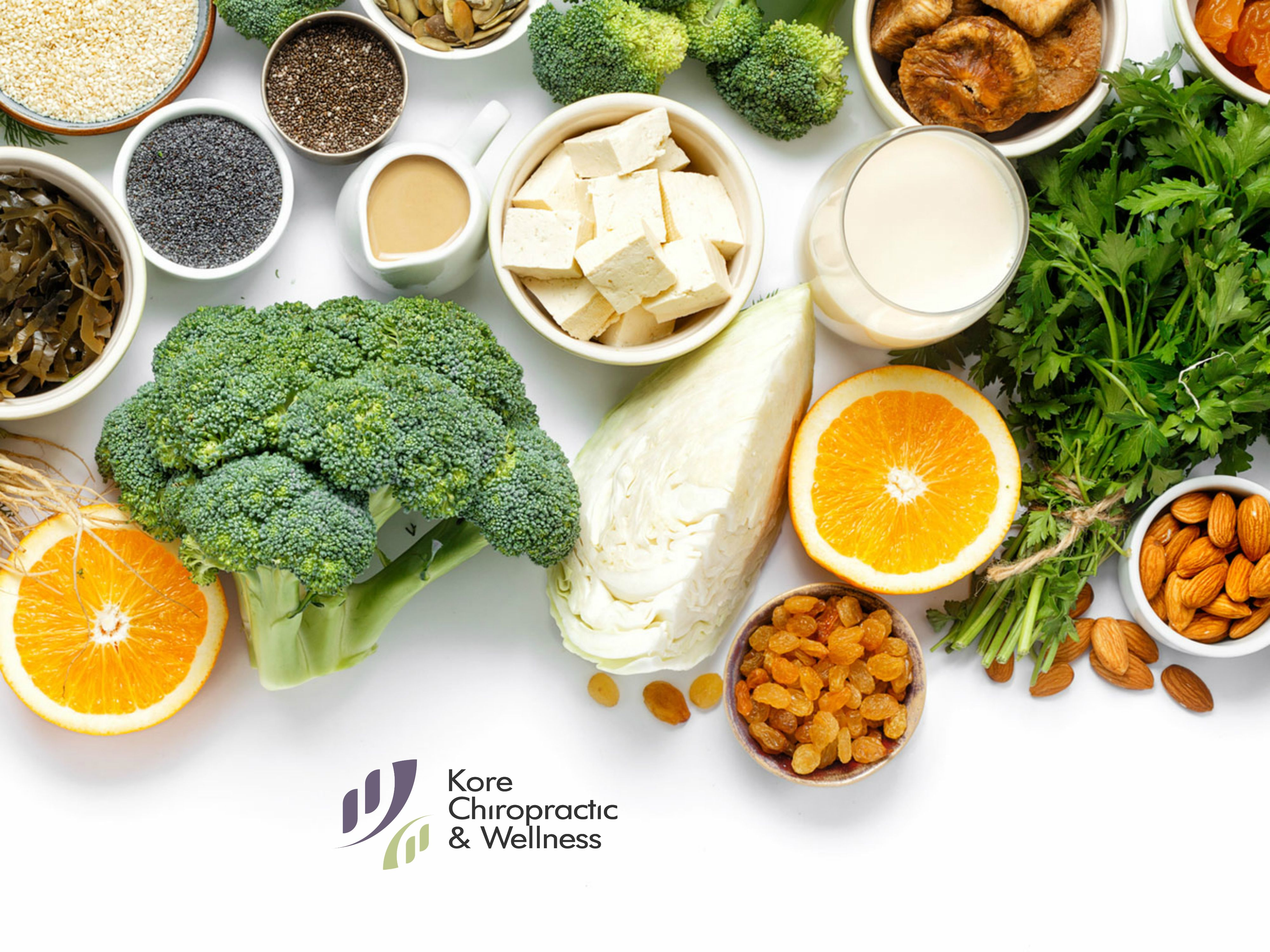 By eating the right combination of calcium and VitaminD