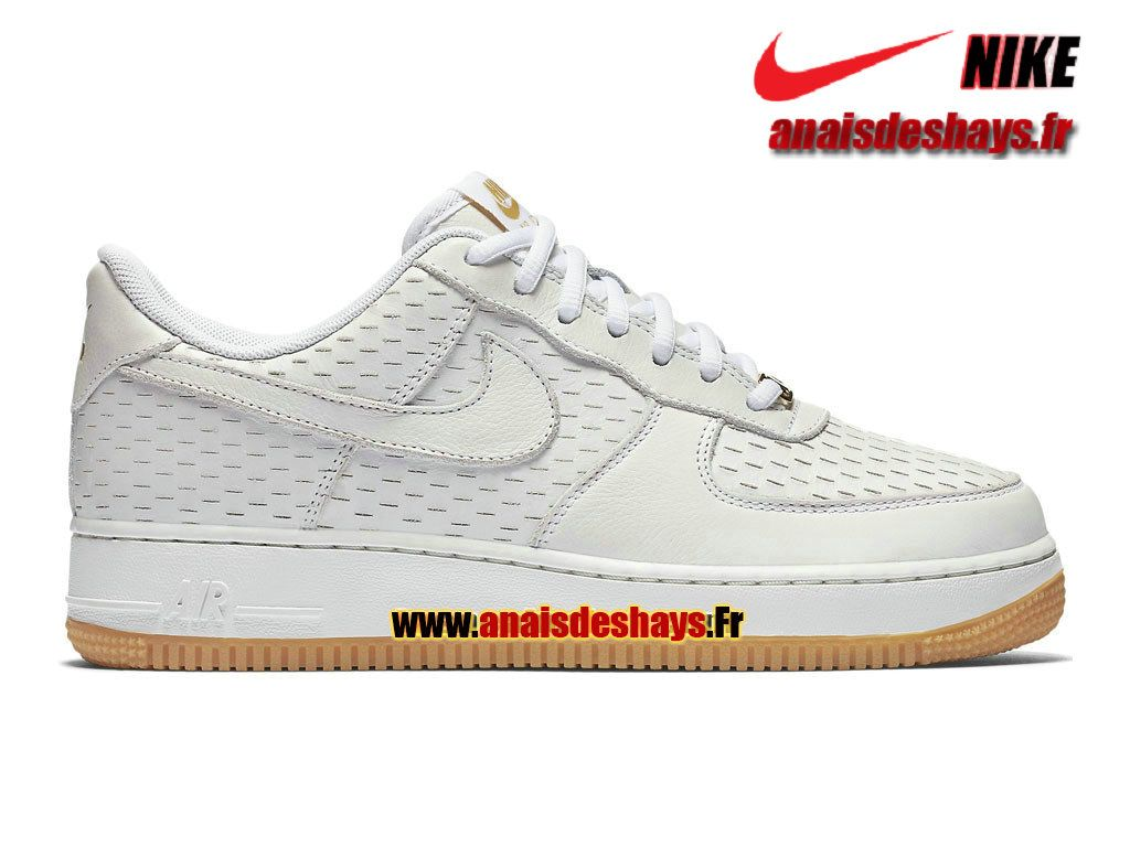 new york 97b2d 033c5 Boutique Officiel Nike Air Force 1 07 Premium Low Homme Blanc Blanc  sommet Or métallique Blanc 616725-104H