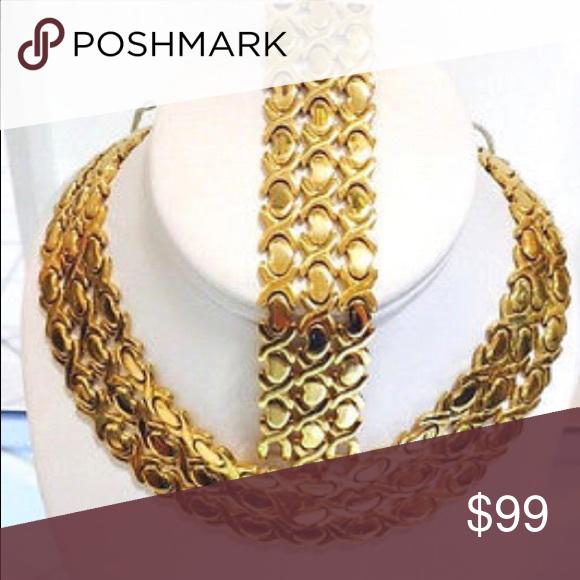 14k Gold Hugs Kisses Necklace Bracelet Set Brand New Jewelry Bracelet Set Necklace Jewelry Sales