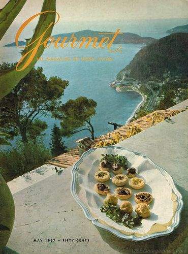 Gourmet 1967 May, On the French Riviera, Cote de Nuits, Istanbul, Paris a Table, Kind Cutlets, Spring Dinners
