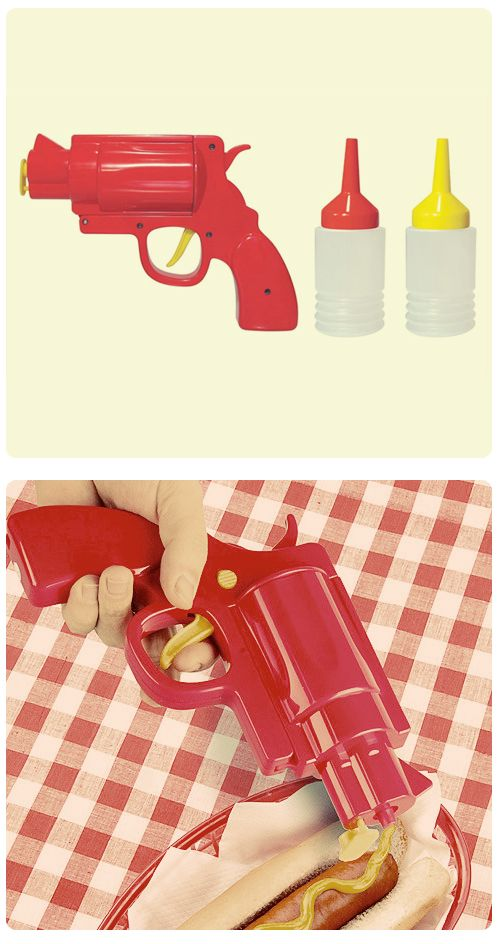 Ketchup and mustard GUN Picnic Party. That's so #PulpFiction ;)