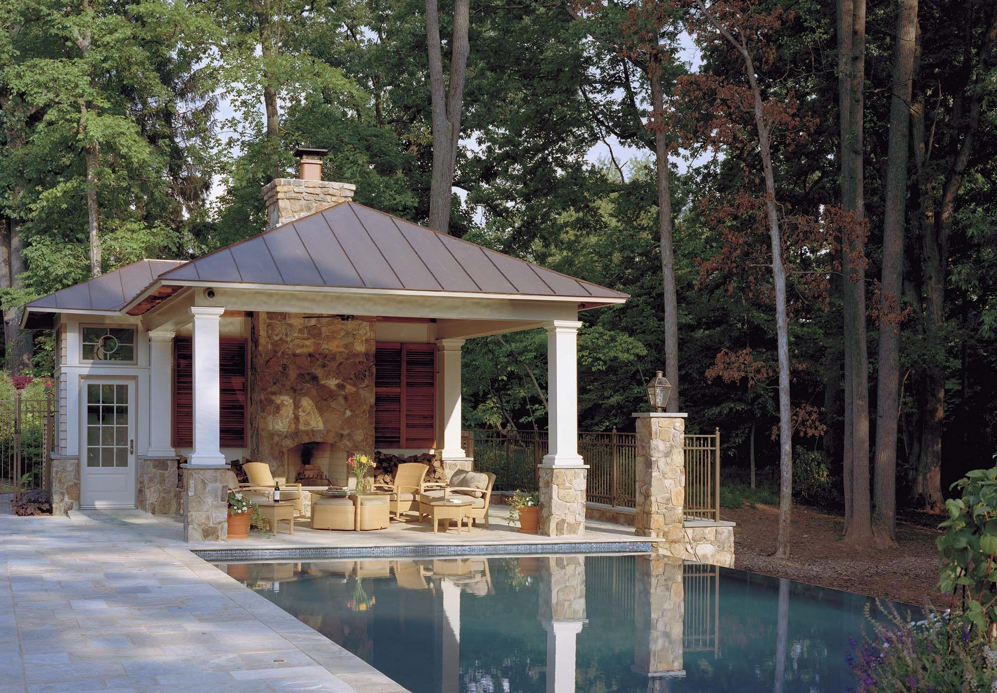 Custom Pool House Wth Bathroom And Kitchen Pool Houses Pool House Bathroom Pool Cabana
