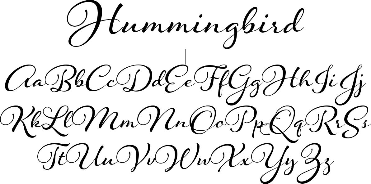 Hummingbird font   Fontastic   Cursive fonts, Bold fonts, Cursive