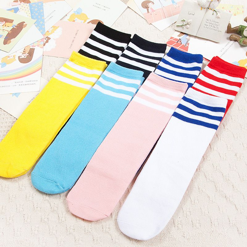 26b1778202a Find More Socks Information about Baby Knee High Socks Girls Boys Striped  Retro Old School Athletic Socks Long Classic Leg Warmer Children Football  Strips ...
