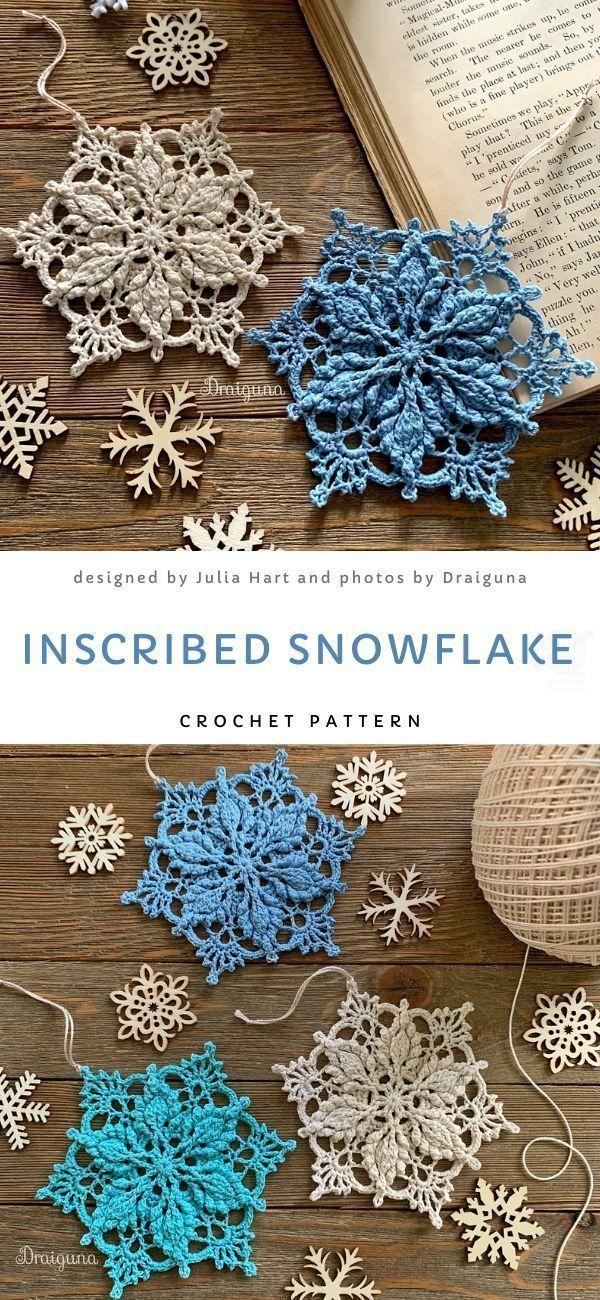 Photo of Vintage Lace Snowflakes Free Crochet Pattern – Stricken ist so einfach wie 1, 2,…