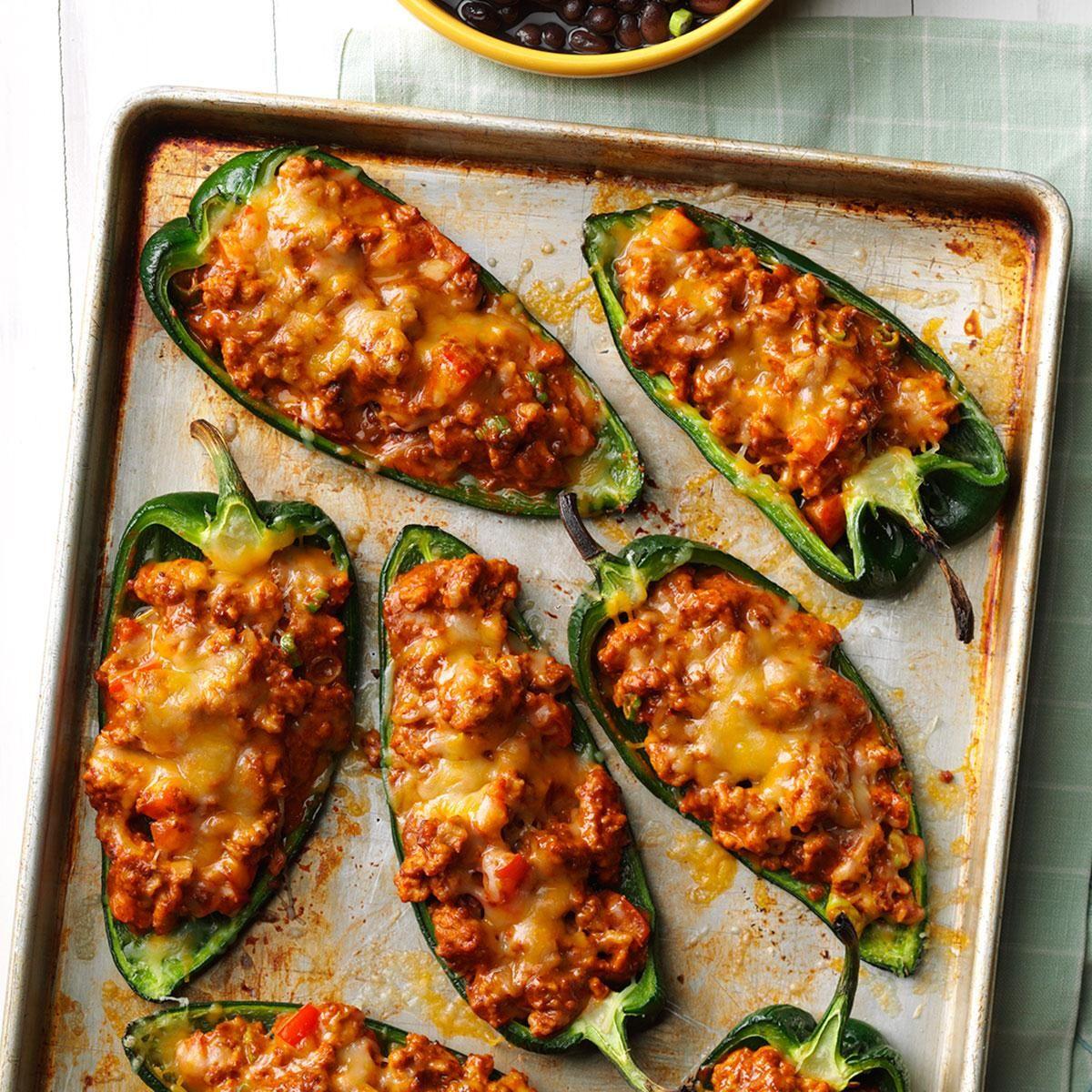 Chili Stuffed Poblano Peppers Recipe Stuffed Peppers Stuffed Poblano Peppers Sheet Pan Dinners Recipes