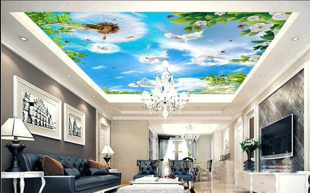 Tapete Für Wohnzimmer, Wand Tapete, Anstrichtapete, 3d Malerei, Fototapete,  Decken Wandmalereien, 3d Wandmalereien, Gebäude, Löwenzahn