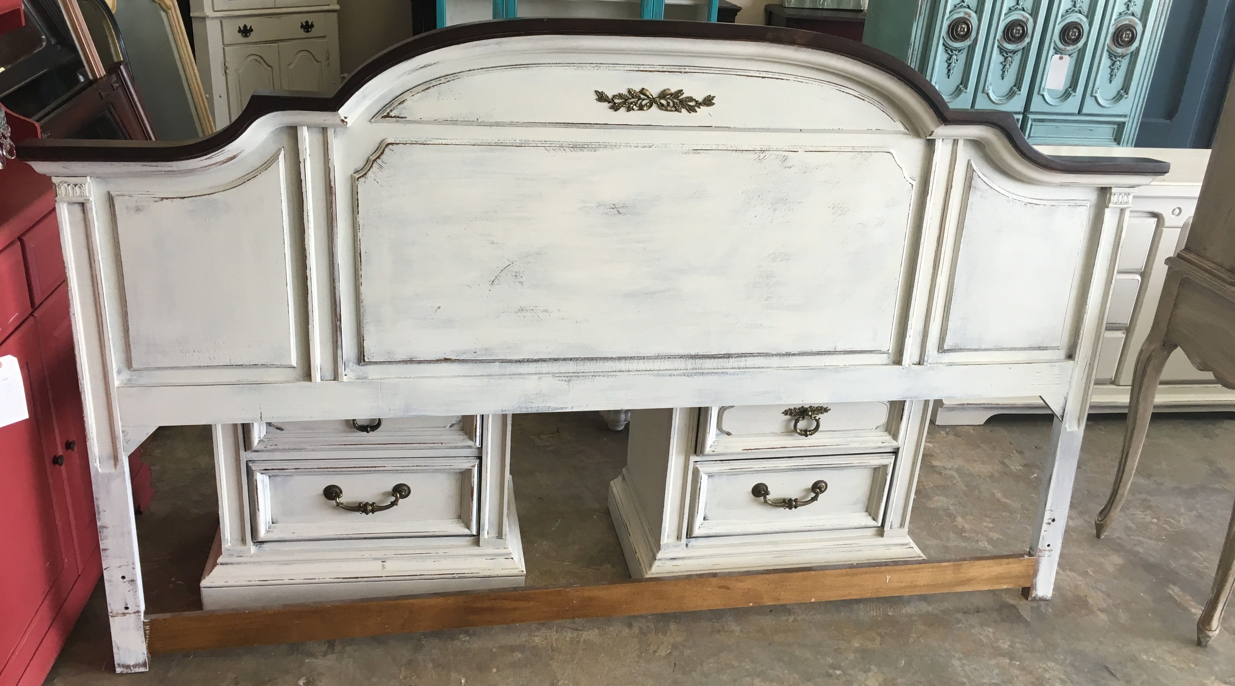Here Is Nice Tall King Size Headboard Sold For 150 French Country Furniture Shabby Chic Bedding Shabby Chic
