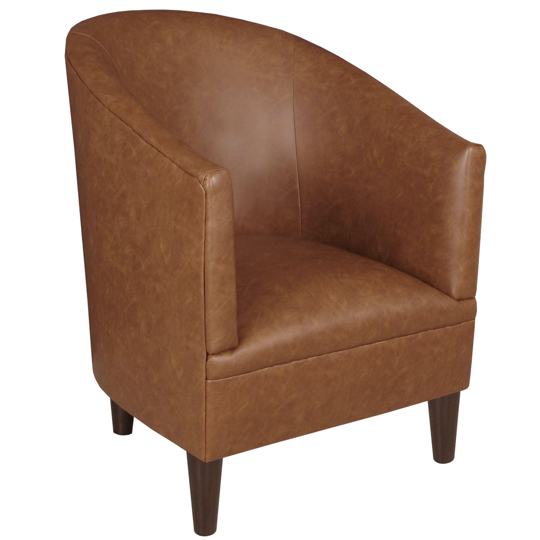 Skyline Furniture Tub Chair in Sonoran Saddle Brown (Saddle Brown ...
