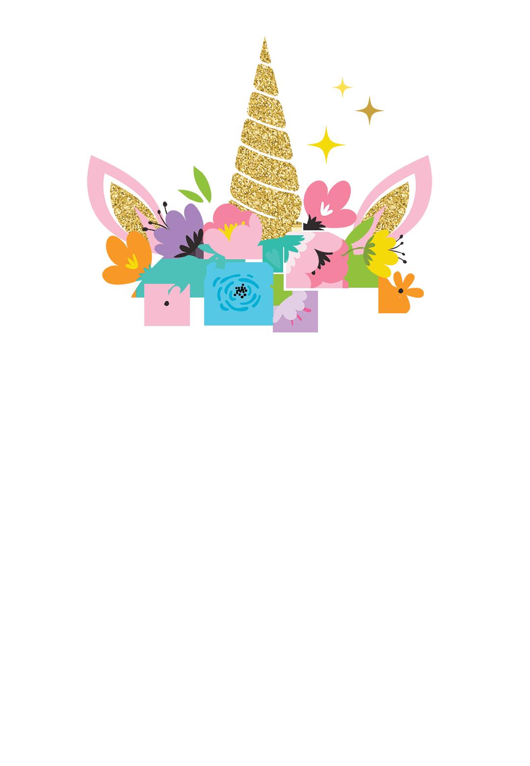unicorn joy free birthday invitation template greetings island