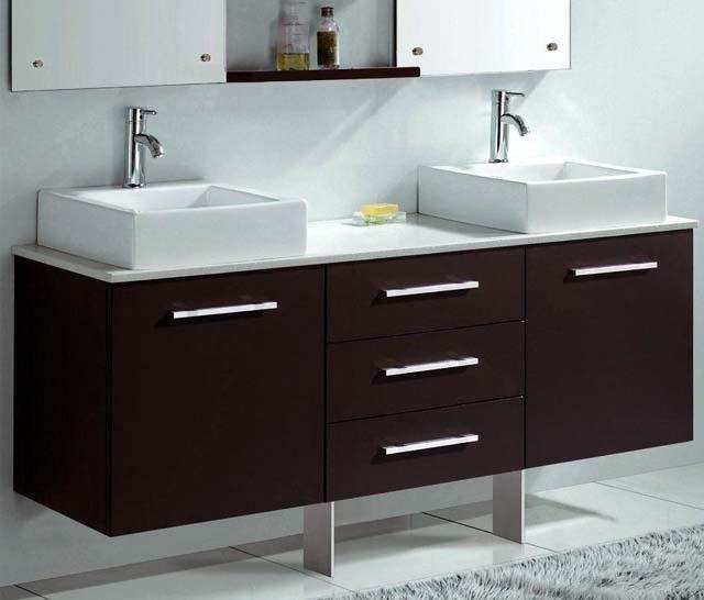 Designer Vanity Units For Bathroom Amusing Florencia 1600 Wall Hung Espresso Vanity Unit Modern Bathroom Decorating Design