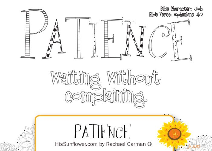 printable fruit of the spirit patience coloring pages Google