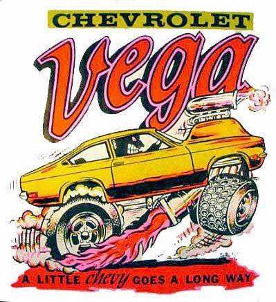 1970s Chevy Vega Art cars, Car drawings, Weird cars