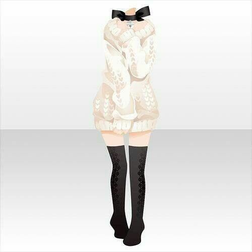 Anime outfit design sweater with high black socks | Iu0026#39;m an Artist | Pinterest | Anime outfits ...