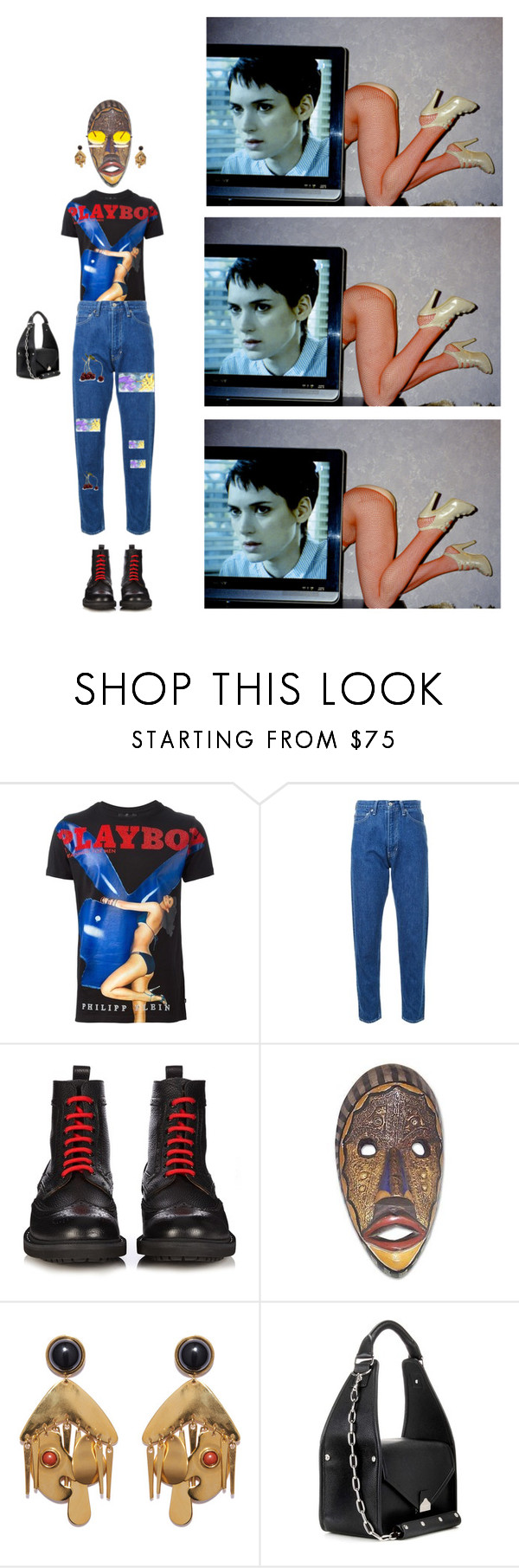 """""""cinquante-trois"""" by violentdelights1971 ❤ liked on Polyvore featuring Philipp Plein, CITYSHOP, Givenchy, NOVICA, Lizzie Fortunato and Balenciaga"""