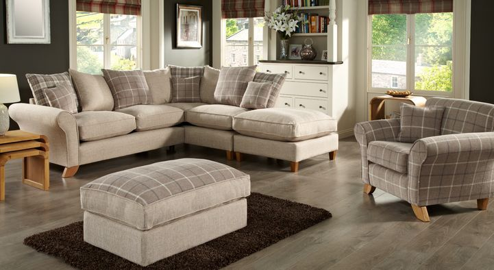 The Linea Laine 2 Seater Sofa Combines Sumptuous Fabric, Vibrant Scatter  Back Cushions And Two Wood Foot Options. Buy Online Now At House Of Fraser