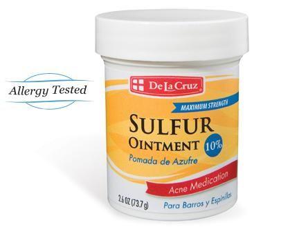 Sulfur Ointment Maximum Strength 2.6 Oz 73.7 G De La Cruz Acne Medication