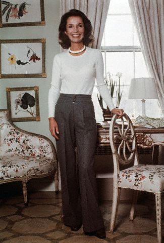 Lee Radziwill at home, 1978