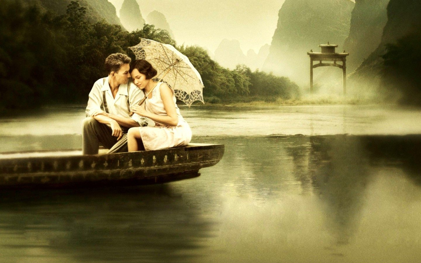 download couple on boat hd wallpapers http://www.superwallpapers.in