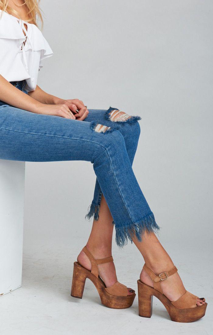 006d7613c4b Steve Madden ~ Lulla Platform Heels~ Chestnut
