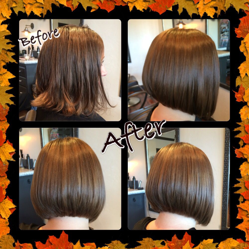 Aline bob haircut before and after line bob haircut