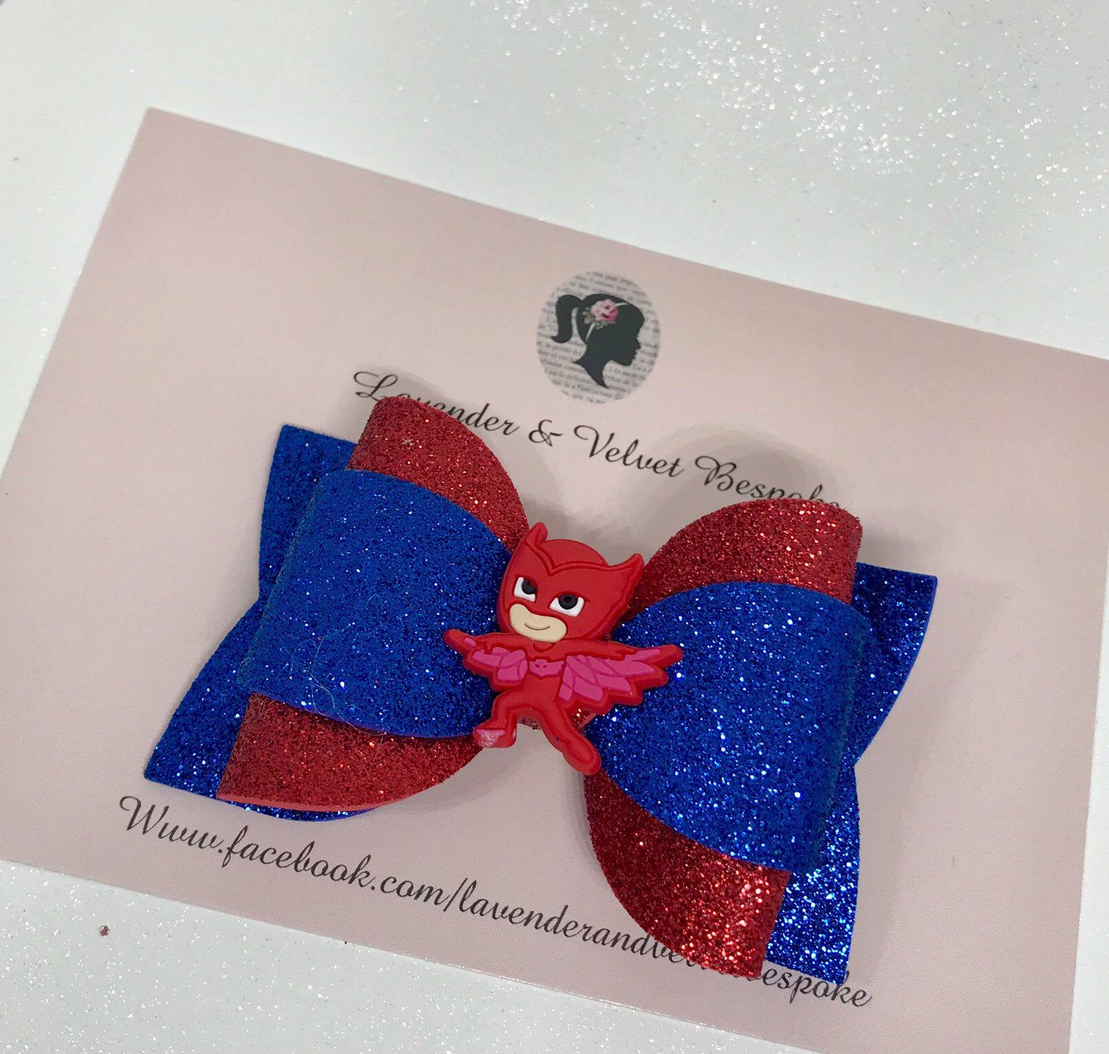 Pj Masks Superhero Glitter Hair Bow Glitter hair, Blue