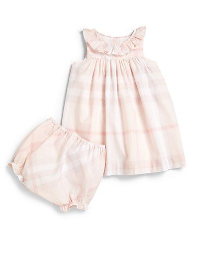 c3591da522e1 BURBERRY Infant s Check Dress   Bloomer Set- Pink (12 months)  Burberry