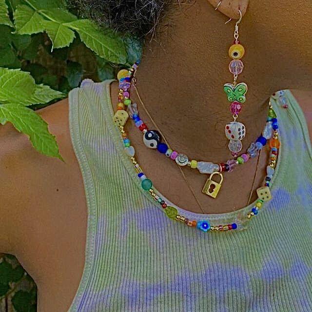 ˏˋ꒰ @s4nr1ofa1ry ☁️·̩͙   Indie jewelry, Indie necklace ...