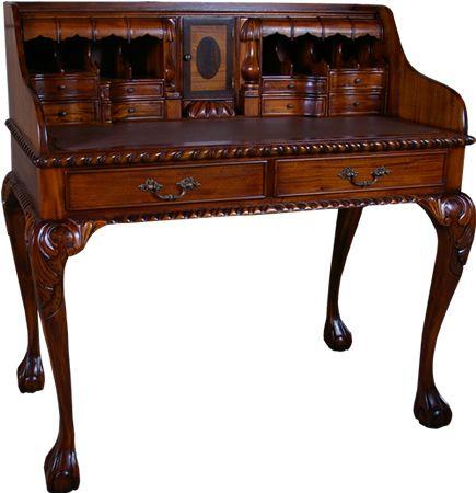 Escritoire Writing Desk Mid Mahogany Antique Style Escritoire