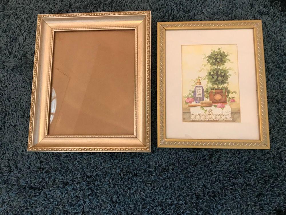 2 Gold Designer Picture Frames 9x11 With 5x7 Matt And 10x12 No Matt