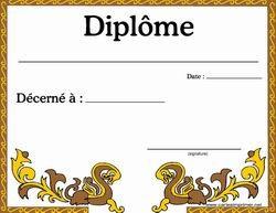Diplôme De Participation Diplome Vierge Diplômé