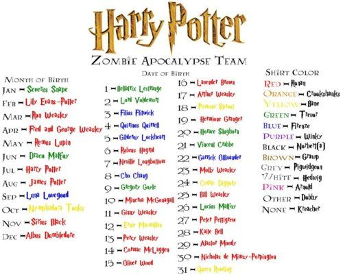 Zombie Apocalypse Team: Ron Weasely, Oliver Wood, and Arnold the