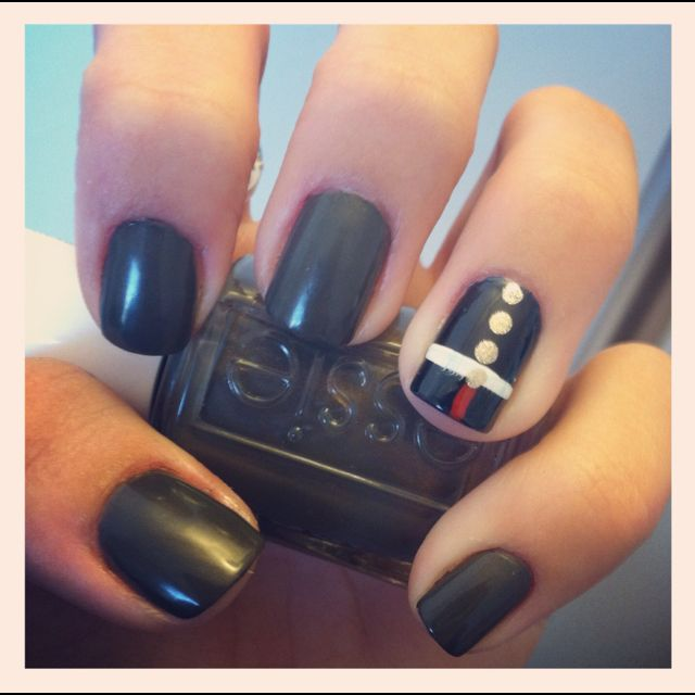 Love These Marine Dress Blue Themed Nails Usmc