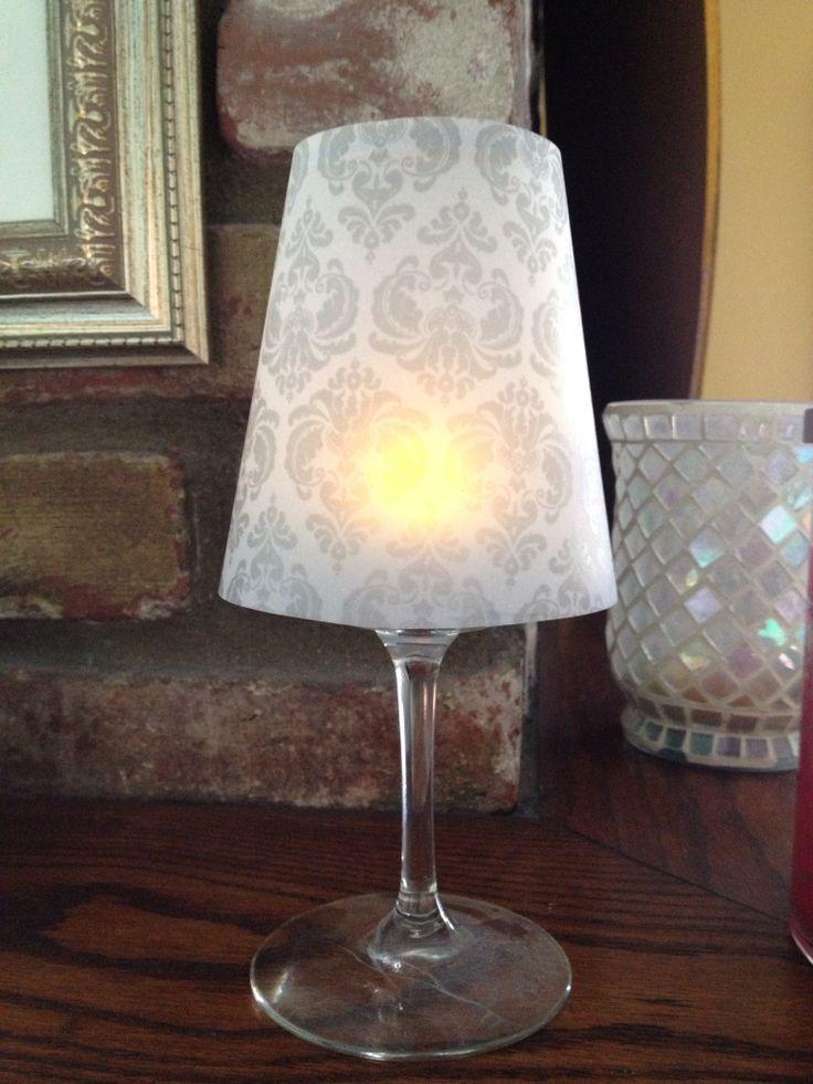 Vellum paper lamp shades vellum paper lamp shade to place over vellum paper lamp shade to place over wine glass with tea light inside aloadofball Gallery