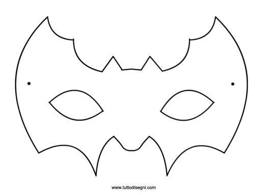 Pipistrello , Maschera da colorare , TuttoDisegni.com Pipistrelli Da  Halloween, Disegni Da Colorare