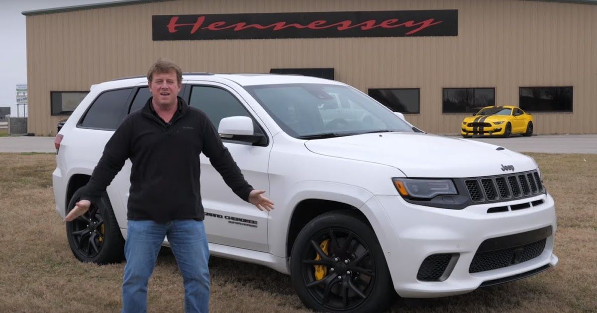 Hennessey Hustles The Jeep Grand Cherokee Trackhawk To 175 Mph Film Hellcat
