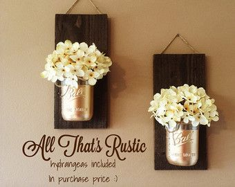 Rustic Home Decor Home & Living Set of 2 Hanging b AllThatsRustic