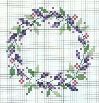 cross stitch lavender More
