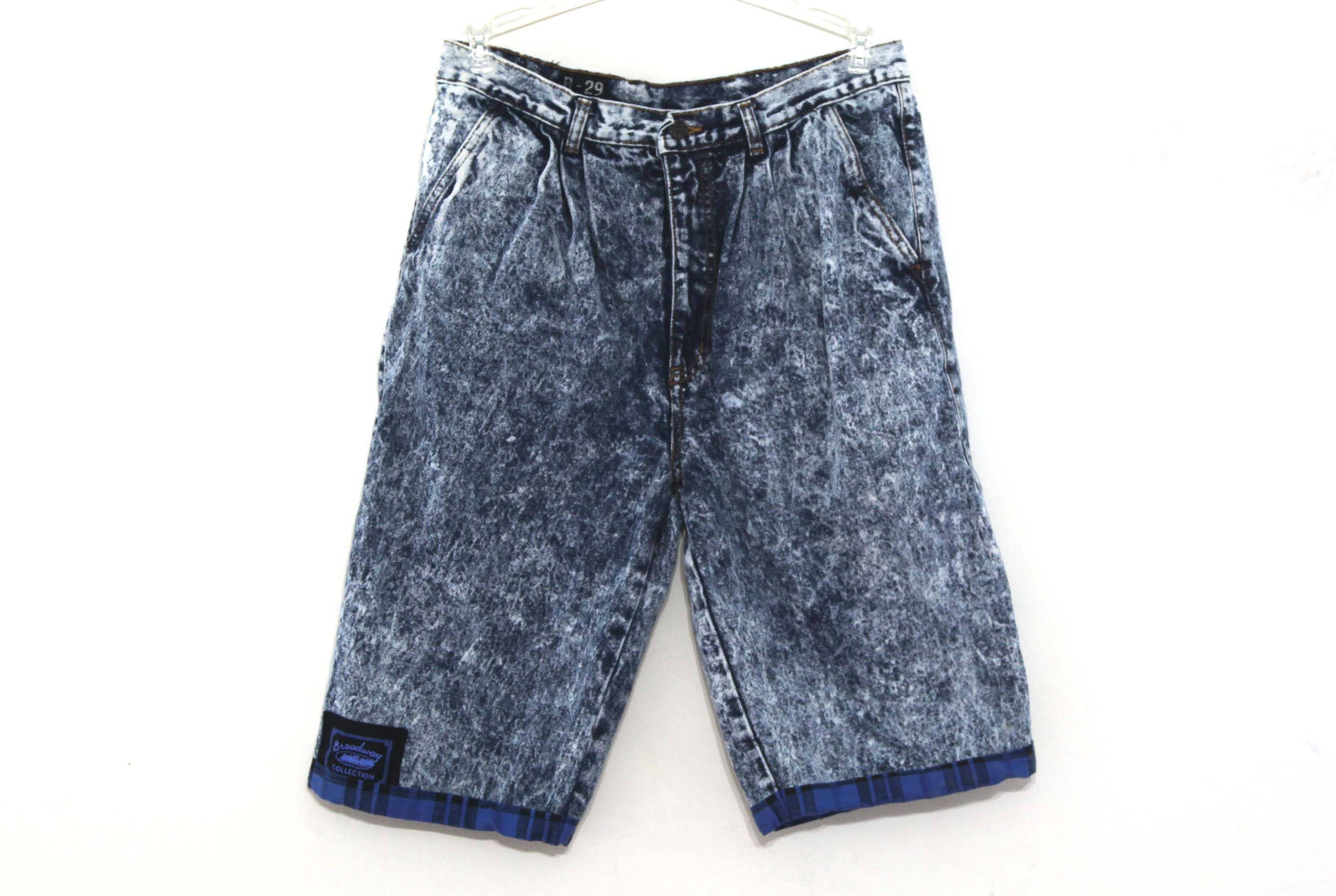 80s mens jean shorts