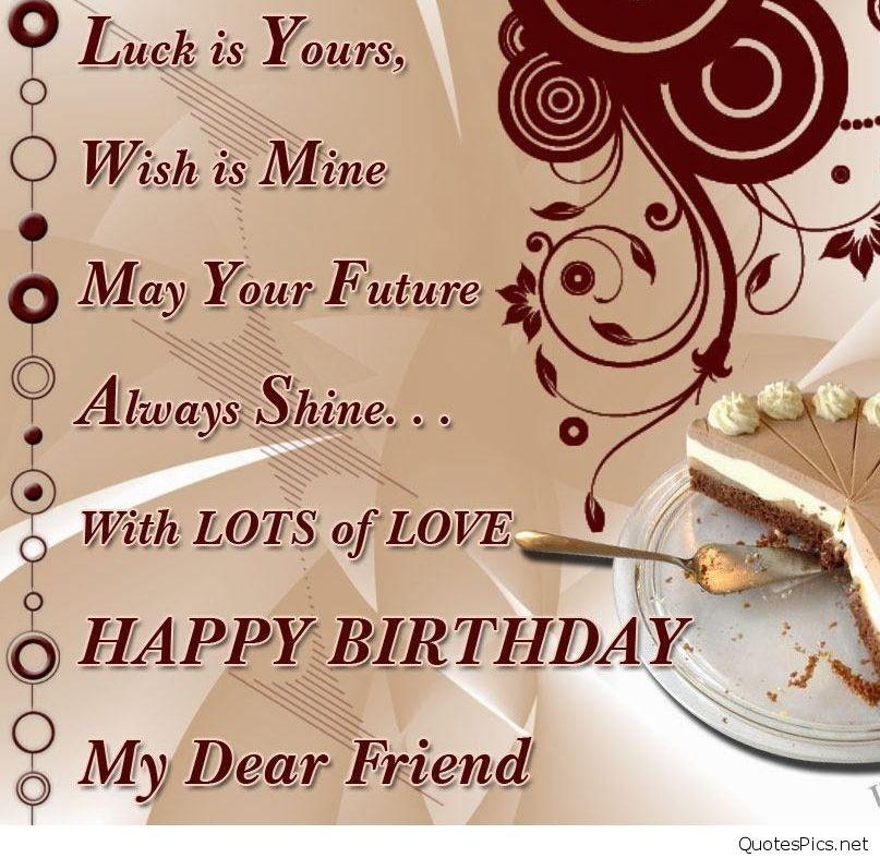birthday wish for best friend Birthdays Pinterest