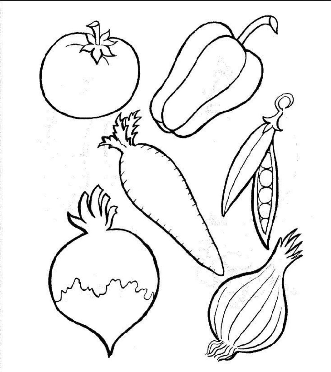 Daniel 1 Veggie Coloring Sheet